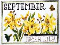 Click for more details of Flowers of the Month September - Tiger Lily (cross stitch) by Stoney Creek