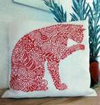Click for more details of Flowery Cat Cushion (Mønstret Kat) (cross stitch) by Haandarbejdets Fremme