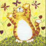 Click for more details of Flutterbys (cross-stitch kit) by Karen Carter