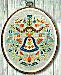 Click for more details of Folk Art Sampler (cross stitch) by Tiny Modernist