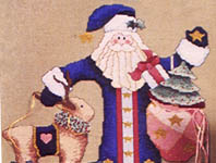 Click for more details of Folk Art Santa Collection (cross-stitch pattern) by Alma Lynne