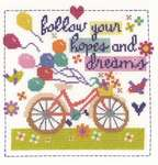 Click for more details of Follow Your Hopes And Dreams (cross stitch) by DMC Creative