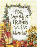 Click for more details of For Family and Friends (cross stitch) by Janlynn