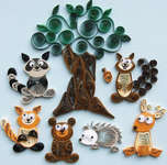 Click for more details of Forest Buddies (quilling) by Quilled Creations