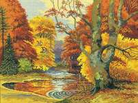 Click for more details of Forest Lake (cross stitch) by Eva Rosenstand