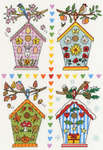 Click for more details of Four Bird Boxes (cross-stitch kit) by Bothy Threads