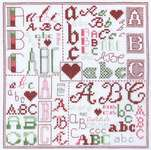 Click for more details of Four Coloured Alphabet (cross stitch) by Classic Embroidery