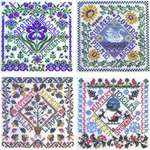 Click for more details of Four Seasons Garden Party (cross stitch) by Tempting Tangles Designs