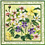 Click for more details of Four Seasons - Spring (cross stitch) by Rose Swalwell