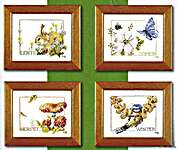 Click for more details of Four Seasons Wildlife (cross stitch) by Marjolein Bastin