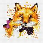 Click for more details of Foxes (cross stitch) by Luca - S