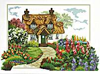 Click for more details of Foxglove Cottage (no-count cross stitch) by Needleart World