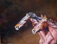Click for more details of Free Spirit (oil) by Linda Bloomfield