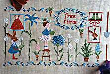 Click for more details of Free Time (cross stitch) by Lilli Violette