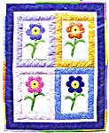 Click for more details of Fresh Flowers (patchwork and quilting) by Bobbie G. Designs