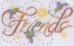 Click for more details of Friends (cross stitch) by Design Works