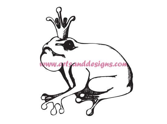 Click for more details of Frog Prince Digital Stamp (digital downloads) by Julie Lynes