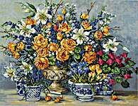 Click for more details of From Gabrielle's Garden (cross stitch) by Luca - S