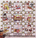 Click for more details of Frosty Friends Blocks (cross stitch) by Stoney Creek