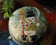 Click for more details of Frosty's Night Out (cross stitch) by Blackbird Designs