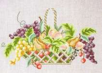 Click for more details of Fruit Basket (cross stitch) by Thea Gouverneur