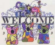 Click for more details of Funky Cats Welcome (cross-stitch pattern) by MarNic Designs