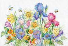 Click for more details of Garden Flowers (cross stitch) by RTO