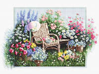 Click for more details of Garden in Bloom (cross stitch) by Luca - S