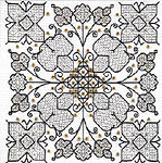 Click for more details of Garden of Happiness (blackwork) by Leon Conrad