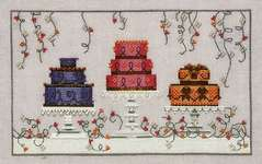 Click for more details of Garden Party Cakes (cross stitch) by Nora Corbett