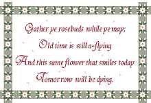 Click for more details of Gather ye Rosebuds .... (cross-stitch pattern) by Anne Peden