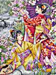 Click for more details of Geishas (cross stitch) by maia