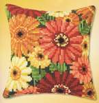 Click for more details of Gerbera Cushion Front (tapestry) by Vervaco
