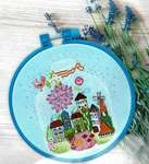 Click for more details of Gift with Cottages (cross stitch) by Abris Art