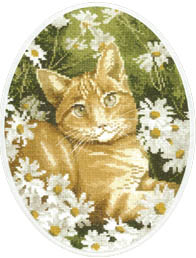 Click for more details of Ginger Cat (cross-stitch kit) by John Stubbs