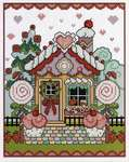 Click for more details of Gingerbread House (cross stitch) by Lesley Teare