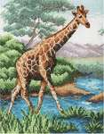 Click for more details of Giraffe (cross stitch) by Anchor