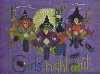 Click for more details of Girls Night Out (cross stitch) by Just Another Button Company