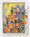 Click for more details of Gladiolis and Butterflies (cross stitch) by Permin of Copenhagen