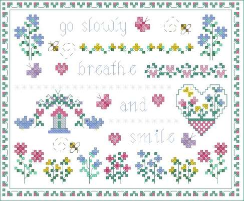 Click for more details of Go Slowly (cross stitch) by Designs by Cathy