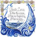 Click for more details of God's Love (cross stitch) by Imaginating