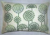 Click for more details of Green Allium Cushion (cross stitch) by Haandarbejdets Fremme