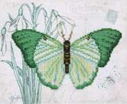 Click for more details of Green Butterfly (beadwork) by VDV