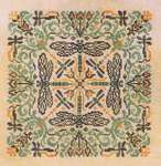 Click for more details of Green Damsel (cross stitch) by Ink Circles