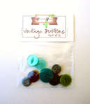 Click for more details of Green Vintage Buttons x10 (buttons and brads) by Elizabeth Grace