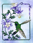 Click for more details of Green Violet-ear Hummingbird (cross stitch) by Crossed Wing Collection