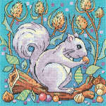 Click for more details of Grey Squirrel (cross stitch) by Karen Carter