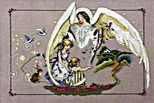 Click for more details of Guardian Angel (cross-stitch pattern) by Mirabilia Designs