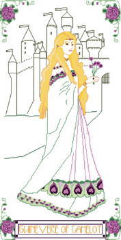 Click for more details of Guinevere of Camelot (cross stitch) by Anne Peden