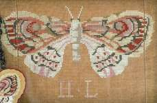 Click for more details of H L's Moth (cross stitch) by Kathy Barrick